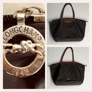 Longchamp Le Pliage Brown Large Nylon Tote
